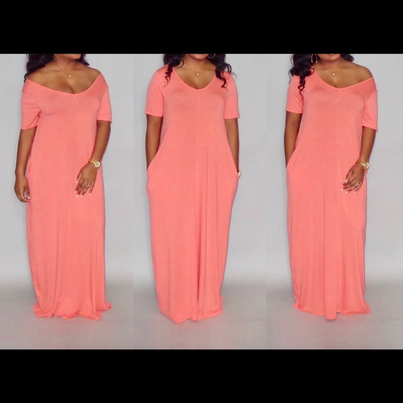 Coral Maxi Dress (also available in PLUS size)